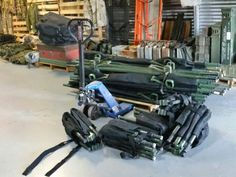 Surplus stretchers new and used. Some fold in half, some fold up small! Good for EMS, an search and rescue. A-Tin-Hut Military Surplus Store.  Pensacola Fl. We ship! We have enough for the next 10 years! Contact us!
