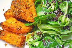 Feldsalat mit Belugalinsen und lauwarmen Süßkartoffeln, ein schmackhaftes Rezept aus der Kategorie INFORM-Empfehlung. Bewertungen: 49. Durchschnitt: Ø 4,4.