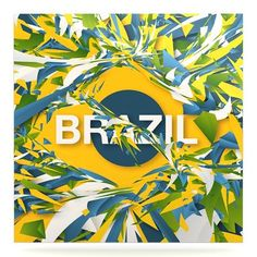 """East Urban Home World Cup 'Brazil' Graphic Art Print on Metal Size: 10"""" H x 10"""" W x 1"""" D"""