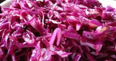 Red Cabbage Salad Recipes is One Of the Favorite Salad Recipes Of Numerous People Around the World. Besides Easy to Produce and Good Taste, This Red Cabbage Salad Recipes Also Healthy Indeed. Red Cabbage Salad, Braised Red Cabbage, Cabbage Salad Recipes, Hcg Diet Recipes, Cooking Recipes, Healthy Recipes, Healthy Food, Cooking Ideas, Yummy Recipes