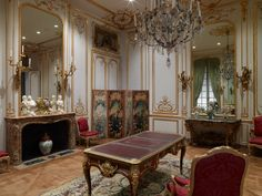 Gallery S107 (Rococo Paneled Room 1730–1755) in the South Pavilion of the J. Paul Getty Museum.