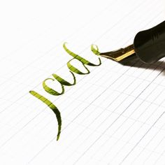 """Jade."" Vintage Waterman 52 BCHR with a superflex nib...joy in writing. Rohrer…"