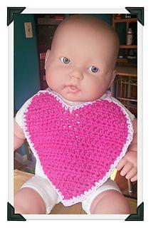 Ravelry: Crochet Heart Bib pattern by Stacey Lynn