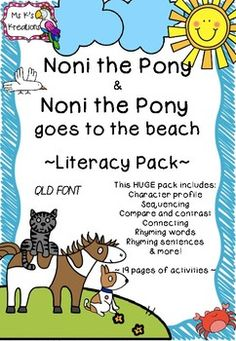 Noni the Pony is a must-read in the classroom. This unit provides you with a huge variety of activities that will keep all students engaged and learning. There is everything from character profiles to sequencing to rhyming to craft! There are 19 pages of activities to choose from, so there is something for all classes.