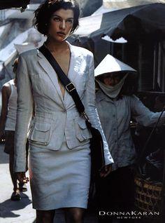 Milla Jovovich for Donna Karan 2001