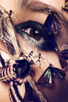 Schön! Magazine Insect Beauty Editorial #makeup #style #fashion