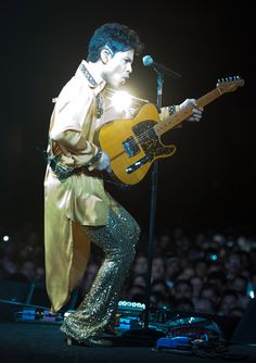 """Prince performs during his """"Welcome 2 Europe"""" tour at the Umbria Jazz Festival Grounds in Perugia, Italy."""