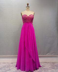 Charming Prom Dress,Elegant Chiffon Prom Dress,Long Homecoming Dresses,Sleeveless