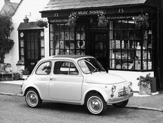 """1969 - The diminutive Fiat 500 resembled Fiat's earlier Topolino (""""little mouse"""")."""