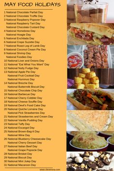 There's a food holiday for every day of the year! Check out this complete list of national food holidays by month. National Celebration Days, Monthly Celebration, National Days, Chocolate Parfait, Chocolate Custard, Italian Beef Sandwiches Chicago, National Holiday Calendar, Silly Holidays, Roast Lamb Leg