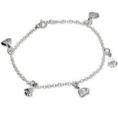 Genuine New 925 Sterling Silver Hands Feet Chain Anklet 1414424 Bee Jewellery. $63.90