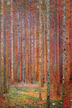 Bosque de abedules Pósters por Gustav Klimt en AllPosters.es