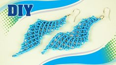 The Blue Lagoon: Macramé Earrings Tutorial. #Macramé #Earrings #Tutorial