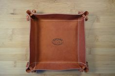Made in the U.S.A. LEATHER Valet tray by EsteroTradingCompany