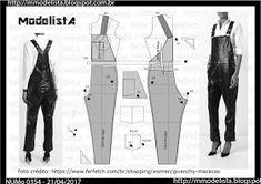 Romper Pattern, Jumpsuit Pattern, Pants Pattern, Easy Sewing Patterns, Clothing Patterns, Fashion Sewing, Diy Fashion, Sewing Clothes, Diy Clothes
