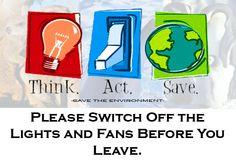 Switch off lights
