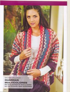 """"""" MOSSITA BELLA PATRONES Y GRÁFICOS CROCHET """": Chaleco colorido a crochet!!!"""
