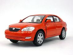 Toyota Corolla 1/36 Scale Diecast Metal Model - RED by Ki...