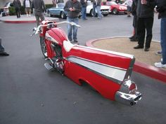 Model Year 57 Chevy Motorcycle