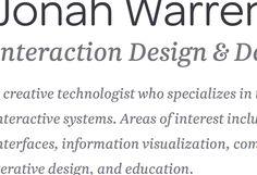 Portfolio for Jonah Waren.