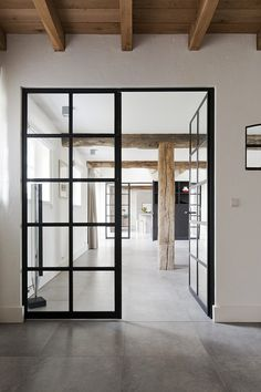 A door is an important and the first part of a house. There is usually one main door in a house and the rest of the doors are for the rooms. Doors are important for the security of any house. Steel Windows, Windows And Doors, Steel Doors, Wood Doors, Ceiling Windows, Interior Architecture, Interior And Exterior, Windows Architecture, Industrial Door