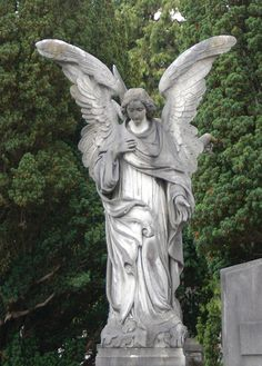 Angel Robed angel looking down
