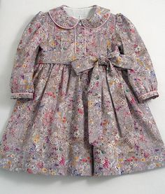 This item is unavailable Liberty Wild Flowers Dress by patriciasmithdesigns on Etsy Baby Girl Dress Patterns, Baby Dress Design, Frock Design, Cute Girl Dresses, Toddler Girl Dresses, Little Girl Dresses, Toddler Girls, Kids Frocks Design, Baby Frocks Designs