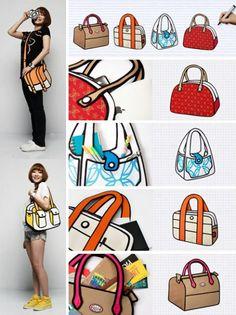 :D ¡bolsas de caricatura hechas realidad!