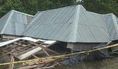 Angin Puting Beliung Hantam Ogan Ilir Satu Orang Tewas Tertimpa Rumah