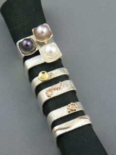 Stacking rings are so much fun to wear!
