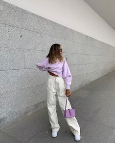 Stylish Impressive Women Acl Outfits Ideas For Daily Outfit To Try Indie Outfits, Lila Outfits, Purple Outfits, Cute Casual Outfits, Retro Outfits, Fashion 2020, Look Fashion, 90s Fashion, Fashion Outfits