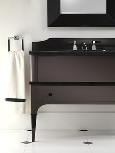 WOW!!!  Comes in ALL black on black!  This would be FAB in either of your bathrooms!    Devon&Devon » Bathroom Furniture – Products Catalogue – Edition 2012 and Preview 2013 » Suite