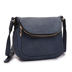 Mmk Collection Crossbody Bag Purse For Women 2830 Navy Blue