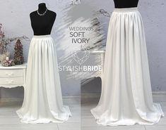 Ivory Wedding Simple Skirt Bridesmaids Chiffon Skirts Bridal