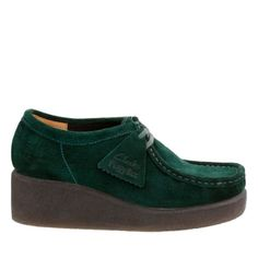 Peggy Bee Dark Green Suede originals-womens-shoes