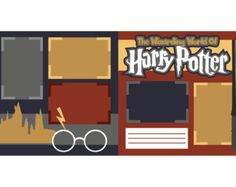 The Wizarding World of Harry Potter Scrapbook Page Layout