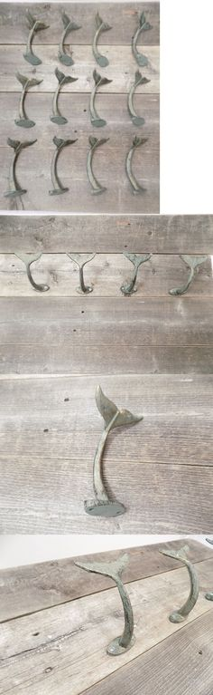 Hooks and Hangers 36024: 12 Cast Iron Whale Tail Hooks Nautical Beach House Home Decor Coat Hat Towel -> BUY IT NOW ONLY: $59.95 on eBay!