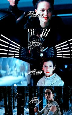 Female Protagonists of the Star Wars films. Star Wars.