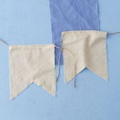 Linen banners from Terrain, Remodelista