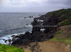 Saint Kitts - Black Rocks where volcanic rocks from an eruption of Mount Liamuiga are deposited (from http://www.discover-stkitts-nevis-beaches.com/caribbean-islands.html)