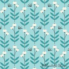 Elizabeth Olwen: Pattern Design  *straight lines w/curves and organic feel