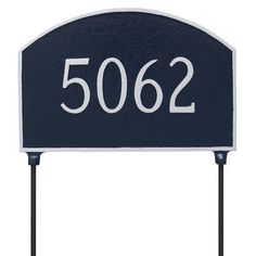 Montague Metal Products Prestige Double Sided Lawn Arch Address Plaque Finish: Black/Copper