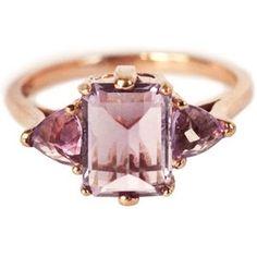 Anna Sheffield Rose Gold Amethyst Bea Ring