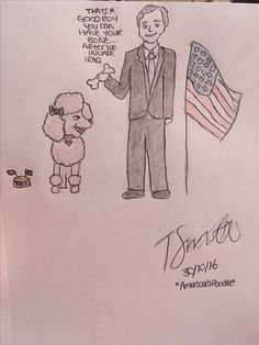 America's poodle   **** this is an old joke but I was not going to pass up the opportunity to draw Tony Blair as a poodle XD