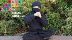 DIY Ninja Costume | Full-Time Kid | PBS Parents  - make a ninja mask from a t-shirt