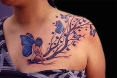fairy | chest tattoos for women | egodesigns
