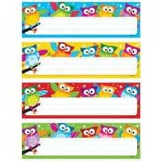 Owl-Stars! Desk Toppers Name Plates Variety Pack