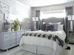 Small bedroom furniture placement.