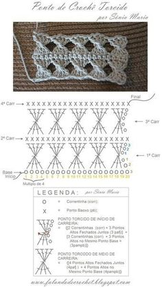 Tutorial: Crochet chart reading Explained nicely for a beginner.Discover thousands of images about Tutorial: Crochet chart readingCROCHET - Lovely Feminine Wide Boarder Lattice Stitch Pattern (Asian Pattern, Found on Russian Website (allmyhobby. Crochet Diy, Gilet Crochet, Crochet Twist, Freeform Crochet, Love Crochet, Irish Crochet, Crochet Motif, Tutorial Crochet, Crochet Square Patterns