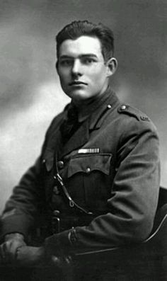Ernest Hemingway dressed in uniform, Milan, Italy, For two months he drove ambulances until he was wounded. Source: The John F. Kennedy Presidential Library, The Ernest Hemingway Collection Ernest Hemingway, Mariel Hemingway, Hemingway Quotes, Beat Generation, Photos Rares, World War One, Interesting History, World History, History Online